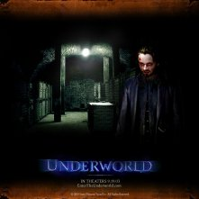 Un wallpaper di Michael Sheen nella parte di Lucian nel film 'Underworld'