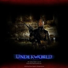 Un wallpaper di Robbie Gee nella parte di Kahn nel film 'Underworld'