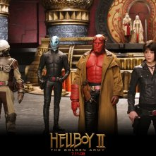 Wallpaper: James Dodd, Doug Jones, Ron Perlman e Selma Blair nel film di 'Hellboy II - The Golden Army'