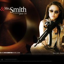 Wallpaper: Angelina Jolie nel film Mr. and Mrs. Smith