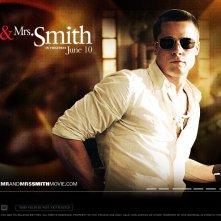 Wallpaper: Brad Pitt nel film Mr. and Mrs. Smith