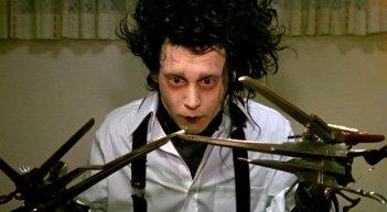 Johnny Depp nel film 'Edward mani di forbice'