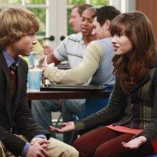 Sterling Knight e Demi Lovato in un momento dell'episodio Fast Friends di Sonny tra le stelle