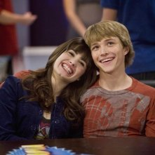 Sterling Knight e Demi Lovato in una scena dell'episodio Sonny With a Chance of Dating di Sonny tra le stelle
