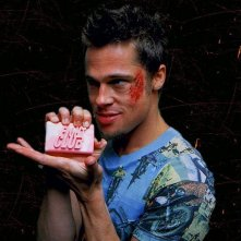 Un wallpaper di Brad Pitt per il film Fight club