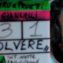 Victoria Larchenko sul set del film Polvere