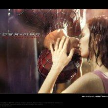Wallpaper: Il bacio tra Mary Jane e Spiderman nel film 'Spider-Man'