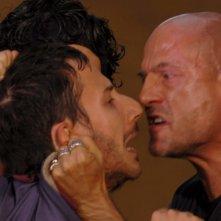 Michele Alhaique e Gianmarco Tognazzi in un'immagine del film Polvere