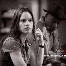 Un wallpaper di Hilary Swank nel film 'Million Dollar Baby'