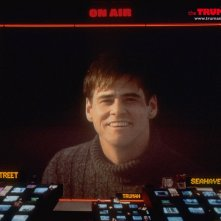 Un wallpaper di Truman Burbank on air nel film 'The Truman Show'
