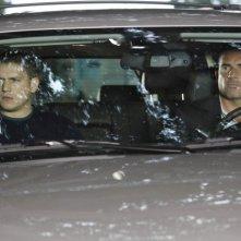 Wentworth Miller e Dominic Purcell in una scena dell'episodio Cowboys and Indians di Prison Break