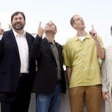 Cannes 2009: il Festival vola in alto con la Pixar e il suo ultimo gioiello, Up: nella foto i realizzatori del film