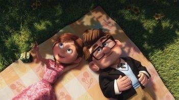 Una immagine di Up (2009) con Carl Fredricksen da giovane, e la sua amata Ellie.