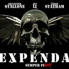 Un banner promo di The Expendables