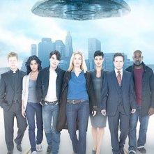 Un'immagine promozionale del cast di V