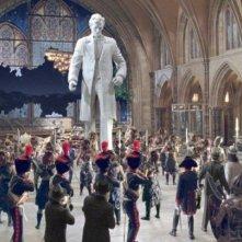 L'enorme statua di Abramo Lincoln in una scena del film Una notte al museo 2: la fuga.