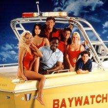 Una foto promozionale della terza stagione di Baywatch