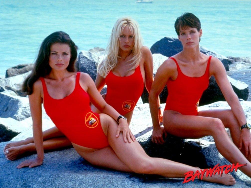 Wallpaper di 'Baywatch' con Yasmine Bleeth, Pamela Anderson e Alexandra Paul