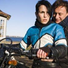 Noomi Rapace e Michael Nyqvist in un'immagine del film Uomini che odiano le donne