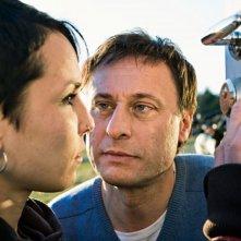Noomi Rapace e Michael Nyqvist in una scena del film Uomini che odiano le donne