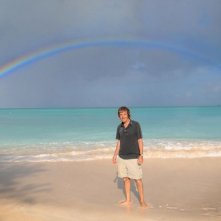 Carlo Vanzina sul set di Un'estate ai Caraibi