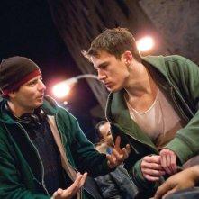 Il regista Dito Montiel e Channing Tatum sul set del film Fighting