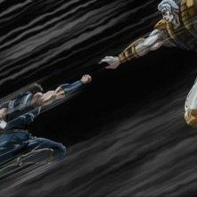 Una scena di combattimento del film Ken il guerriero - La leggenda di Raoul