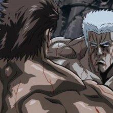 Una scena di combattimento all'ultimo sangue del film Ken il guerriero - La leggenda di Raoul