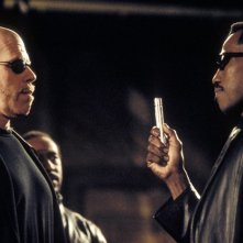 Wesley Snipes e Ron Perlman in una scena del film 'Blade II'