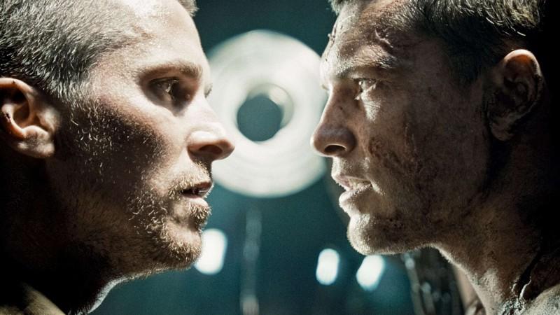 Christian Bale e Sam Worthington in un'immagine del film Terminator Salvation