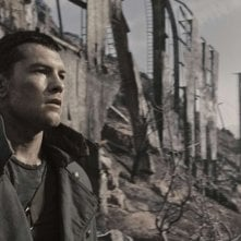 Sam Worthington in una scena di Terminator Salvation