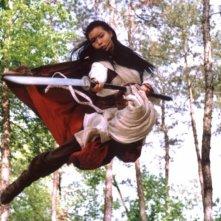 Yoon So-yi in una scena del film Il potere della spada
