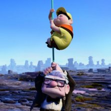 L'adorabile vecchietto Carl Fredricksen e il piccolo Russell, protagonisti del film Up
