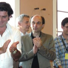 Chris Weitz durante una conferenza stampa a Montepulciano, prima delle riprese di New Moon.