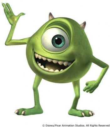 Mike Wazoski in un'immagine promozionale di 'Monsters & Co.'