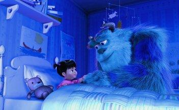 Sullivan e la piccola Boo in una scena di Monsters & Co