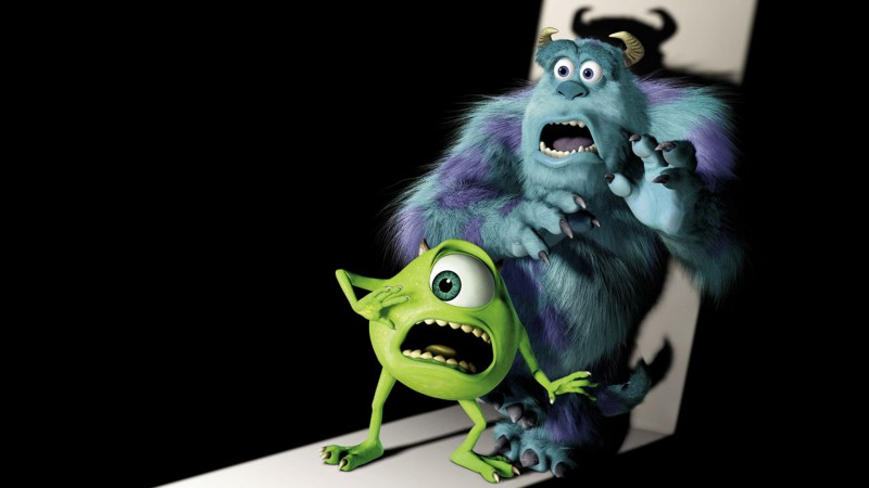 Sullivan e Mike Wazoski in Monsters Inc.