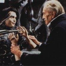 Johnny Depp con Vincent Price nel film Edward mani di forbice