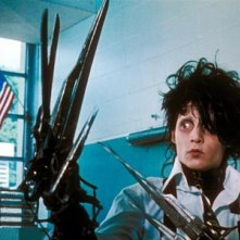 Johnny Depp nel film Edward mani di forbice