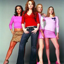 Lacey Chabert, Lindsay Lohan, Rachel McAdams e Amanda Seyfried in una foto promozionale per 'Mean Girls'