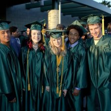 Francis Capra, Tina Majorino, Kristen Bell, Percy Daggs III e Jason Dohring alla festa dei diplomi in Veronica Mars