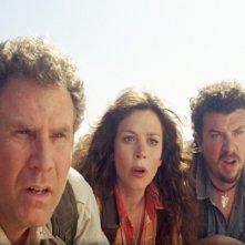 Will Ferrell, Anna Friel e Danny McBride in un'immagine del film Land of the Lost