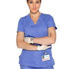 Edie Falco nei panni dell'infermiera Jackie Peyton in Nurse Jackie