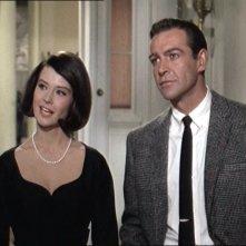 Sean Connery e Diane Baker in una scena del film Marnie