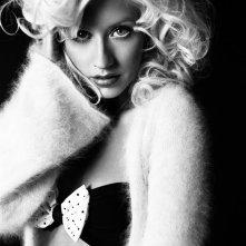 Una foto in bianco e nero per Christina Aguilera