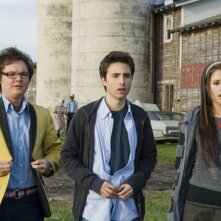 Clark Duke, Josh Zuckerman e Amanda Crew in un'immagine del film Sex Movie in 4D