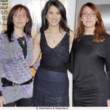 Barbara e Monica Sgambellone, registe del film Tutti intorno a Linda, al Riff insieme alla protagonista Maria Victoria Di Pace