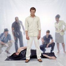 Un'immagine promozionale di gruppo per la stagione 1 di 'Dexter'