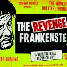 Lobby card promozionale del film La vendetta di Frankenstein
