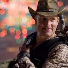 Un primo piano di Woody Harrelson in Zombieland
